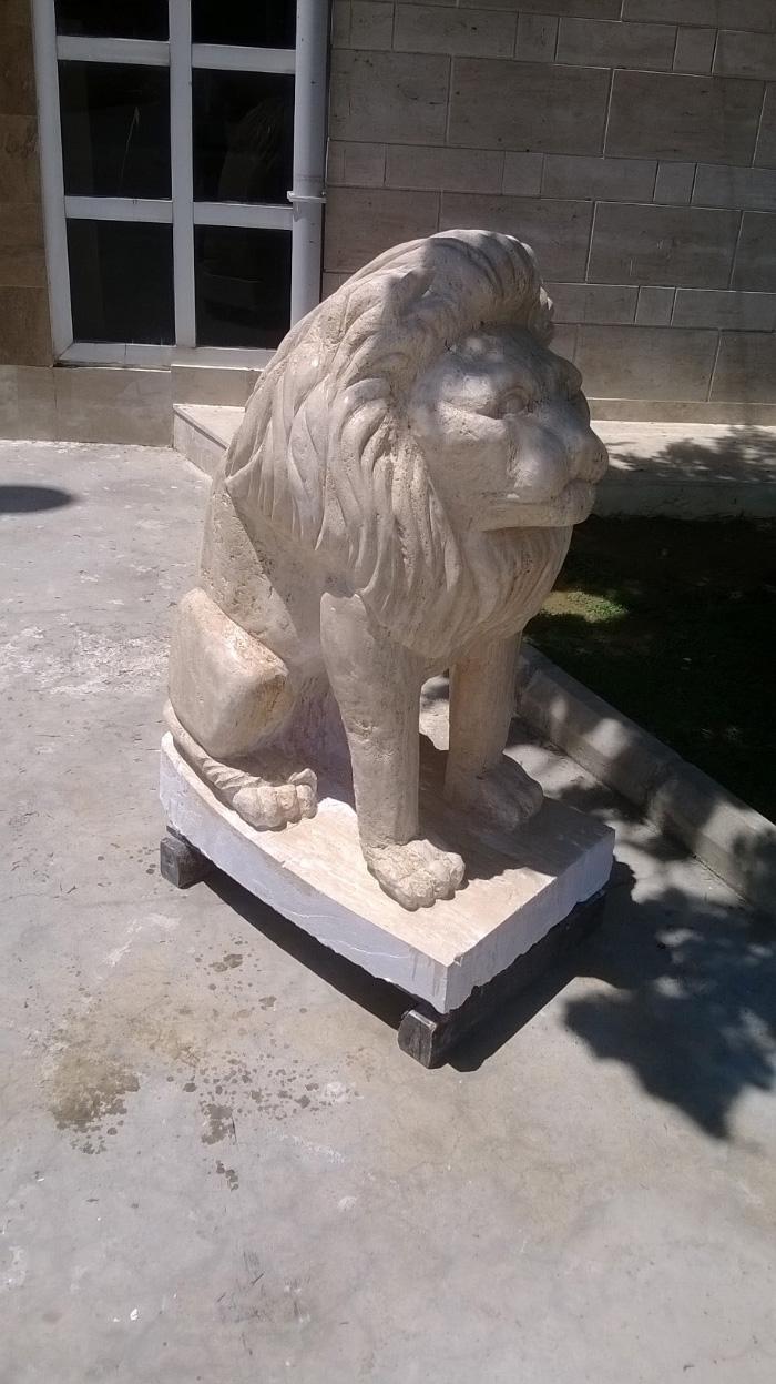 Traverten Aslan Heykeli Çalışması
